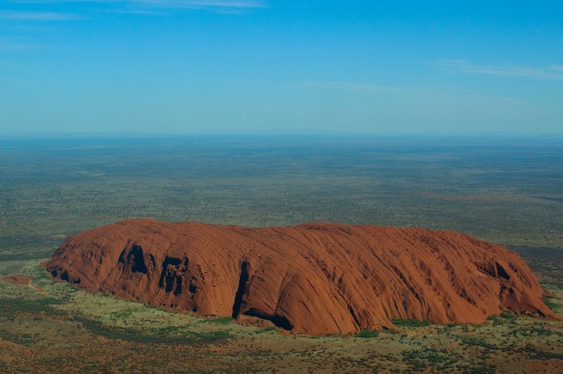 090413 Ayers Rock from aloft