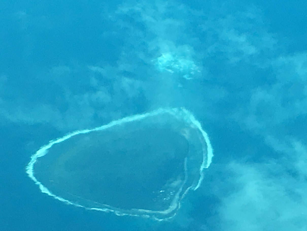 Unknown Island in the Pacifi